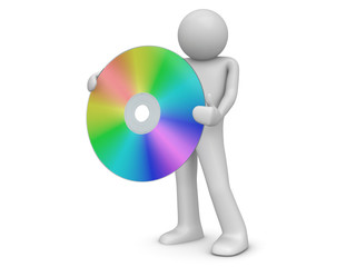 Man holds compact disc