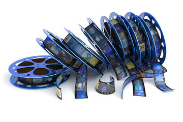 Film reels. Hi-res digitally generated image.