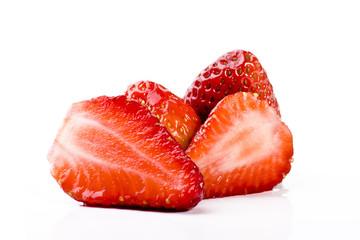 Aufgeschnittene Erdbeeren wd656