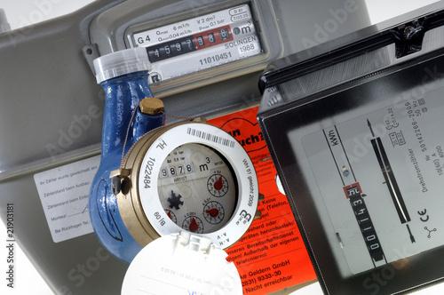 """""""Gas Wasser Strom Rechnung Energie"""" Stockfotos Und"""
