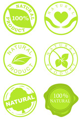 Set of natural product stamps