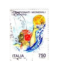 Italy 1994, World Swimming Championships commemorative stamp