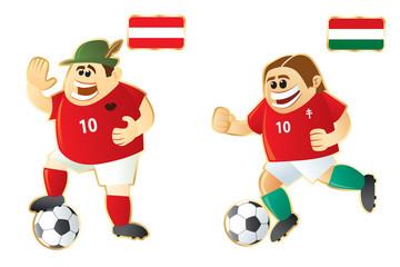 Football macots Austria Hungary