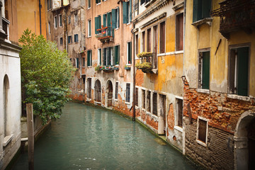 Wall Mural - Old buildings on canal in Venice