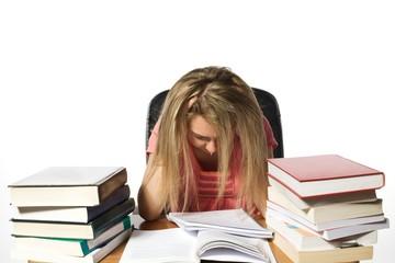 Desperate girl student