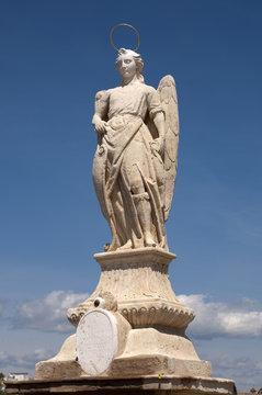 San Rafael Archangel statue in the Roman bridge, Cordoba