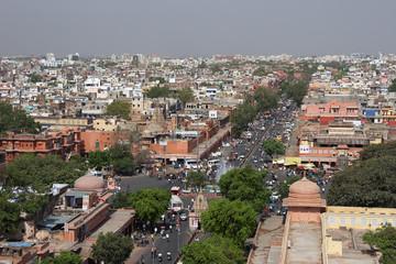 Jaipur streets panorama, India