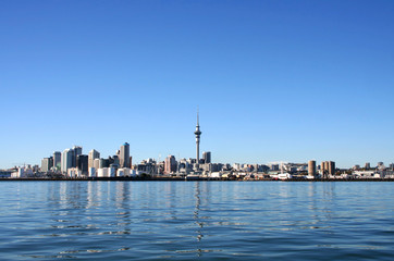 Auckland City, New Zealand on a clear sunny morning