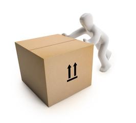 Figur Karton (mit Freistellungspfad/clipping path)