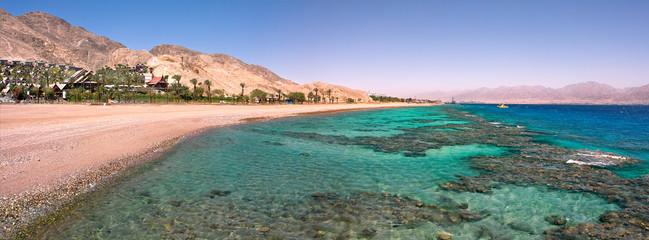 Panoramic view on Red Sea.