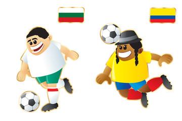 Football macots Bulgaria Ecuador