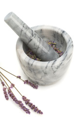 mortar and lavender