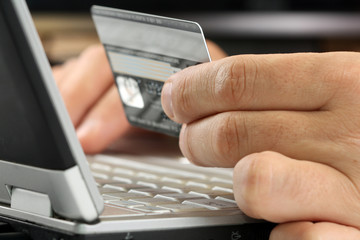 Credit card used in internet payment