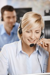 Portrait of customer service operator