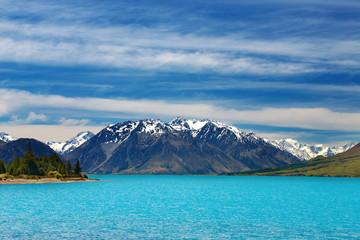 Wall Mural - Ohau lake, Southern Alps, New Zealand