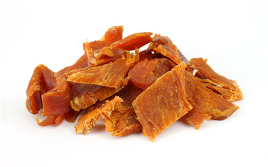 Several pieces of turkey jerky