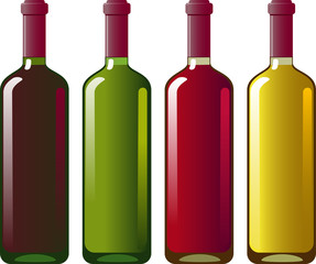 Collection of red and white wine