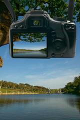 digital camera  display showing travel or vacation photo