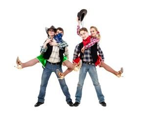 Happy young dancers