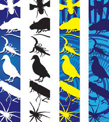 insects and rodents banners