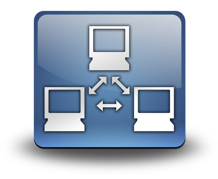 "3D Effect Icon ""Computer Network"""