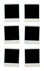 Blank photo frames isolated on white