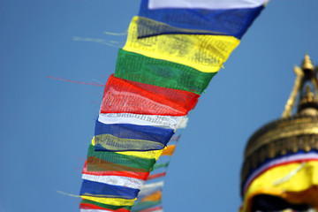 Prayers flags at Boudnath stupa