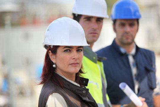 Portrait de professionnels du bâtiment