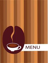 cup of coffee with bean menu