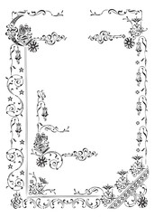 antique frame engraving (vector)