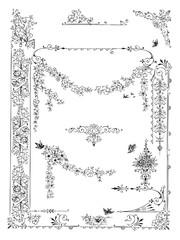 antique frame engraving (vector)