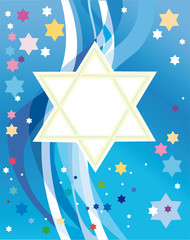 Glad background to the Jewish holiday