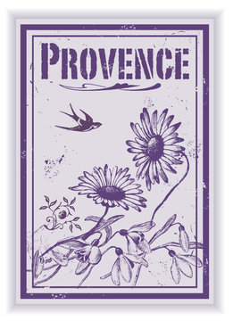 Etiquette Provence vintage