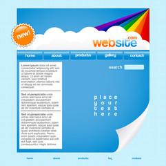 Rainbow website template
