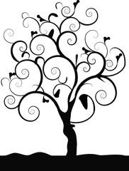 single black tree