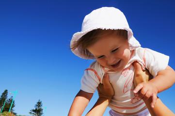 charming little happy girl