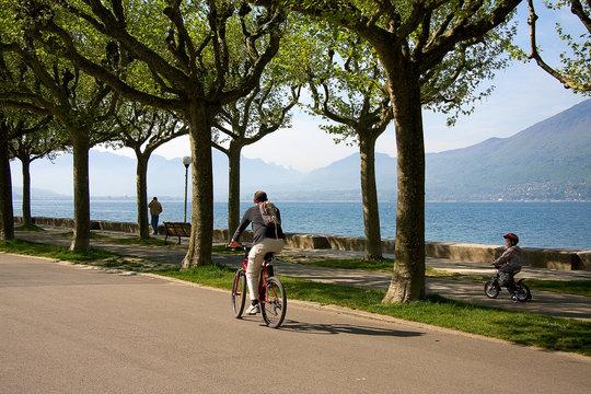 vélo papa et son fils