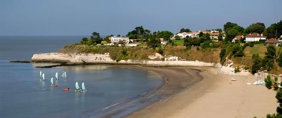 Panoramique de la plage de Saint Georges de Didonne en france