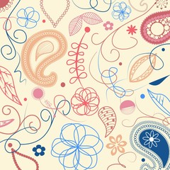 Floral pattern with paisley