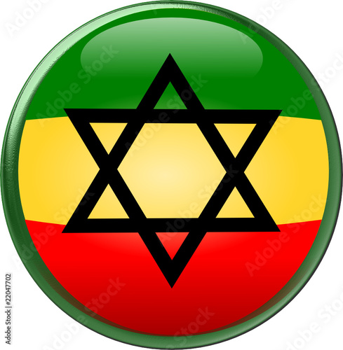 Round Rasta N Star Of David Button Stock Image And Royalty Free