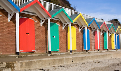 Colourful beach huts, Swanage