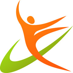 Gymnast icon / logo - 1