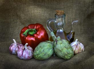 bodegon de verduras