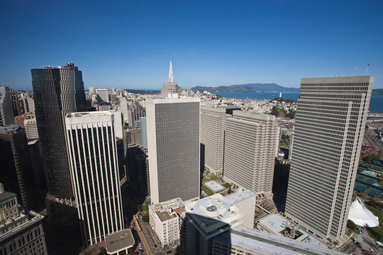 Aerial view of Embarcadero Center in San Francisco