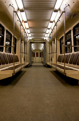 Subway metro wagon inside