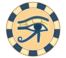 The Eye of Horus (Eye of Ra, Wadjet) - vector