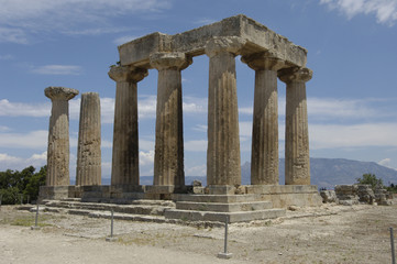 Grèce, ruine de l'ancienne Corinthe