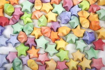color lucky stars origami