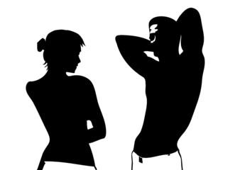 Sportliches Paar