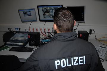 polizei police ordinateur